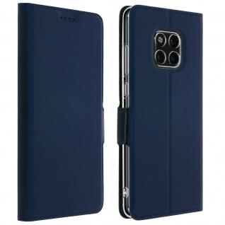Flip Cover mit Kartenfach & Standfunktion Huawei Mate 20 Pro Dunkelblau