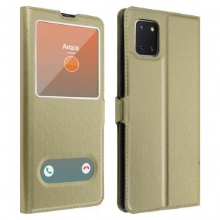 Samsung Galaxy Note 10 Lite Flip Cover Doppelfenster & Standfunktion � Gold