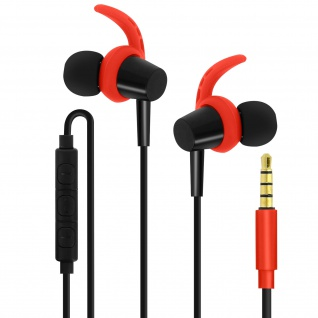 4Sport SP-100 3.5mm Kopfhörer, Magnetische In-Ear Kopfhörer, by Forever ? Rot