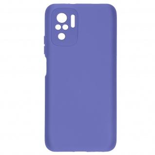 Halbsteife Silikonhülle für Xiaomi Redmi Note 10 / 10s, Soft Touch ? Violett
