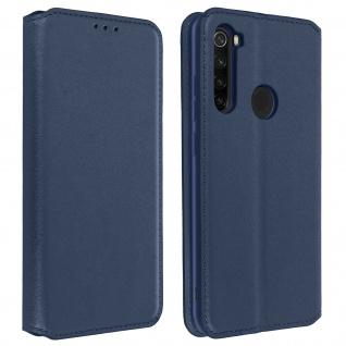 Kunstleder Cover Classic Edition Xiaomi Redmi Note 8 - Blau