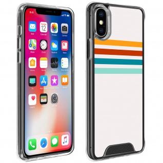 Handyhülle für iPhone X / XS, Made in France ? Stripes Design