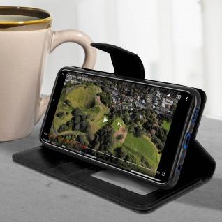 Flip Stand Cover Brieftasche & Standfunktion Huawei Honor 8X - Schwarz - Vorschau 4
