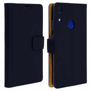 Soft Touch Flip-Cover Geldbörse mit Standfunktion für Honor 8A â€? Dunkelblau