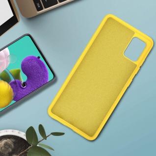 Halbsteife Silikon Handyhülle Samsung Galaxy A51, Soft Touch - Gelb - Vorschau 3