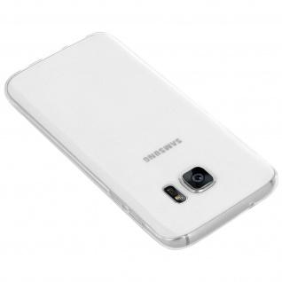 Samsung Galaxy S7 Rundumschutz - transparente Hülle + Glas-Displayschutzfolie