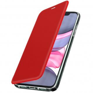 Spiegel Hülle, dünne Klapphülle für Apple iPhone 11 - Rot