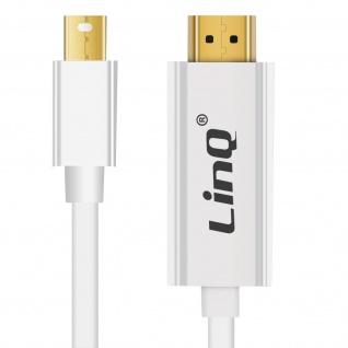 Mini DisplayPort oder Thunderbolt-Stecker / HDMI Kabel 1, 8m MDH18 LinQ â€? Weiß