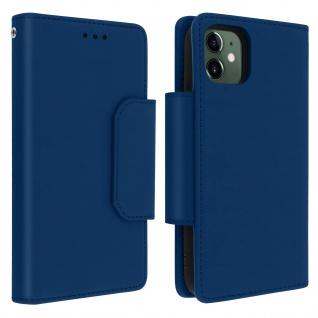 Soft Touch Klappetui mit abnehmbarer Hülle iPhone 11, Geldbörse ? Blau