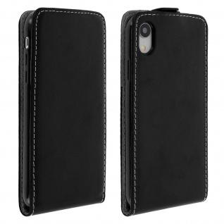 Vertikales Klappetui für Apple iPhone XR, Cover mit Kartenfach - Schwarz