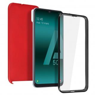 Schutzhülle für Samsung Galaxy A50, Vorder- + Rückseite - Rot