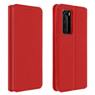 Kunstleder Cover Classic Edition Huawei P40 Pro ? Rot