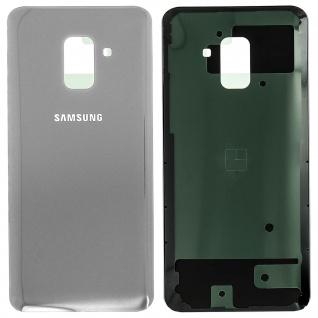 Ersatzteil Akkudeckel, neue Rückseite für Samsung Galaxy A8 2018 - Grau