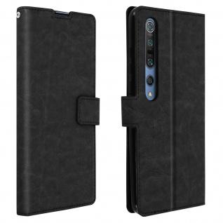Flip Stand Case Brieftasche & Standfunktion für Xiaomi Mi 10/Mi 10 Pro ? Schwarz