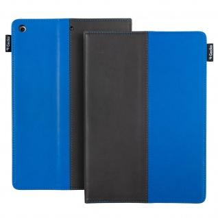 Easy-Click Klapphülle by Gecko Covers für iPad 9.7 2017 / 2018 - Schwarz / Blau