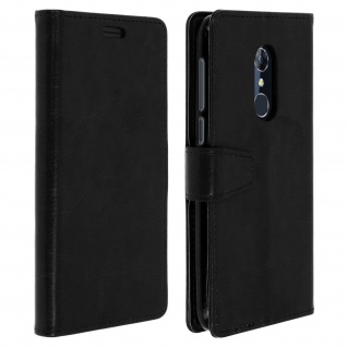 Flip Cover Stand Case Brieftasche & Standfunktion für Alcatel 3 - Schwarz