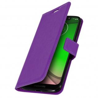 Flip Stand Cover Brieftasche & Standfunktion für Motorola Moto G7 Play - Violett - Vorschau 2