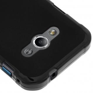 Flexible Schutzhülle aus Silikon für Samsung Galaxy Xcover 3 - Schwarz - Vorschau 4