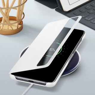 Original Samsung Clear View Cover, Klapphülle für Galaxy S20 Plus - Weiß - Vorschau 5