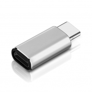 Lightning / USB-C Audio- und Ladeadapter - Silber