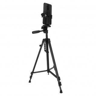Smartphone, Kamera-Stativ Verstellbar von 48 cm bis 145 cm, LinQ ? Schwarz