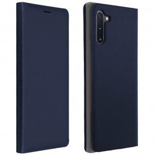 Flip Book Cover, Klappetui aus Kunstleder Samsung Galaxy Note 10 - Dunkelblau