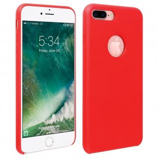 Halbsteife Silikon Handyhülle iPhone 7 +/8 +, Soft Touch - Rot