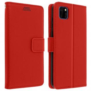 Huawei Y5p Flip-Cover mit Kartenfächern & Standfunktion - Rot