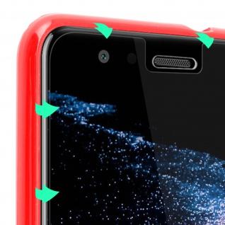 Huawei P10 Lite Glas Display- Rückseite Schutzfolien mit abgerundeten Kanten