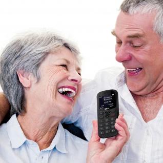 Senior Handy Dual Sim SOS-Taste 1400mAh 14Std. Akkulaufzeit MM471 Maxcom - Grau - Vorschau 3