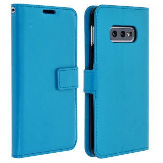 Flip Stand Cover Brieftasche & Standfunktion für Samsung Galaxy S10e - Blau