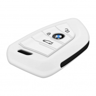 Autoschlüssel Silikon Schutzhülle BMW Serie 1, X1, X2, X5, X6, X5M, X6M - Weiß