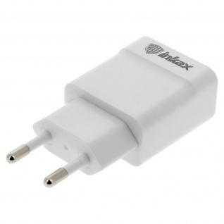 Inkax 1A USB Wand-Ladegerät - Weiß
