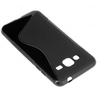 Samsung Galaxy J3 S-Line Schutzhülle aus Silikon - Schwarz