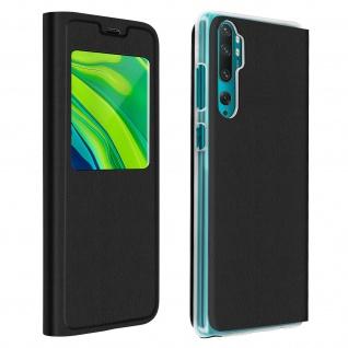 Klapphülle mit Sichtfenster für Xiaomi Mi Note 10 Lite ? Schwarz