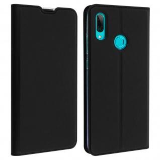 Flip Cover, Klappetui mit Kartenfach & Standfunktion Huawei P Smart 2019 Schwarz