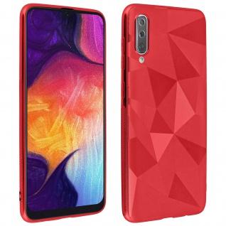 Holographische Handyhülle für Samsung Galaxy A50, Prism Design, Mocca - Rot