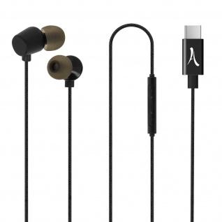 USB-C Headset mit Mikrofon & Multifunktionstasten, Akashi - Schwarz