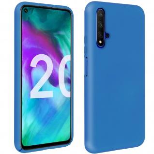 Halbsteife Silikon Handyhülle Honor 20, Huawei Nova 5T, Soft Touch - Dunkelblau