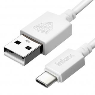 Inkax weißes 3m USB auf USB-C Lade-/Datenkabel mit wendbarem Anschluss