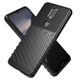 Thunder Series stoßfeste Handyhülle für Nokia 2.4 ? Schwarz