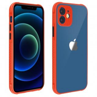 Apple iPhone 12 Mini Schutzhülle aus Polycarbonat, Bumper aus Silikon - Rot