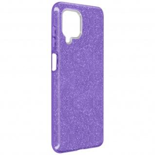Schutzhülle, Glitter Case für Samsung Galaxy A12, shiny & girly Hülle â€? Violett