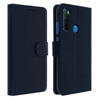 Flip Cover Geldbörse, Klappetui Kunstleder für Xiaomi Redmi Note 8 ? Blau