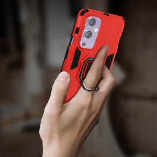 Stoßfeste Handyhülle OnePlus 9 mit Ring-Halterung ? Rot