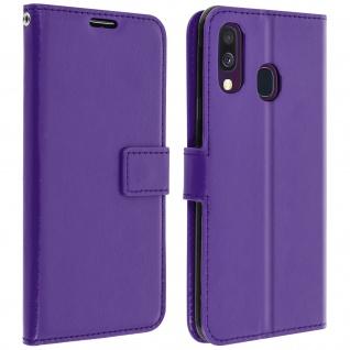 Flip Stand Cover Brieftasche & Standfunktion für Samsung Galaxy A40 - Violett