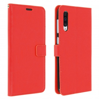 Flip Stand Cover Brieftasche & Standfunktion für Samsung Galaxy A50 - Rot