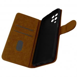 Klappetui mit Geldbörse, Kunstlederhülle für Samsung Galaxy M12 ? Braun