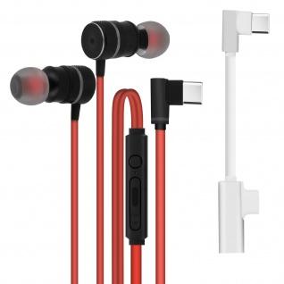 Gaming Kabelgebundene USB-C In-Ear Kopfhörer Magnetisch ? Rot