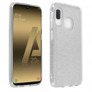 Schutzhülle, Glitter Case für Samsung Galaxy A20e, shiny & girly Hülle - Silber